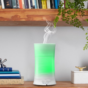 $13.59 Tenswall Aroma Ultrasonic Essential Oil Diffuser Aromatherapy Cool Mist Humidifier with Relaxing & Soothing Multi-colour LED Light Perfect for Home, Office, Spa, Baby Room Etc