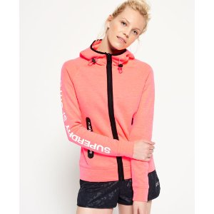 Superdry Gym Tech Zip Hoodie - Women's Hoodies