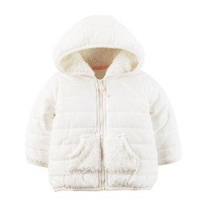 Baby Girl Fleece Puffer Jacket   Carters.com