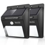 BAXIA TECHNOLOGY Wireless Security Motion Sensor Solar Night Lights 2-pack