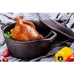 Utopia Kitchen Pre Seasoned Cast Iron Dutch Oven with Dual Handle and Cover Casserole Dish, 5 Quart