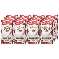 Organic Valley, Organic Plain Whole Milk, 6.75 oz (Pack of 12)