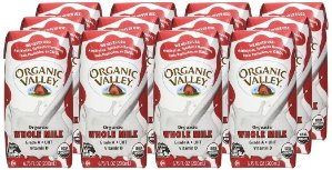Organic Valley, Organic Plain Whole Milk, 6.75 oz (Pack of 12)