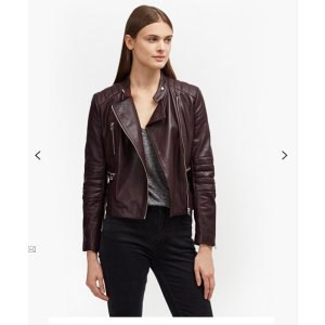 Tobey Leather Biker Jacket | Jackets | French Connection Usa