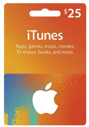 $20 $25 iTunes Gift Card