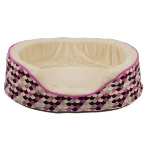 Dallas Manufacturing Purple Oval Orthopedic Dog Bed, 28