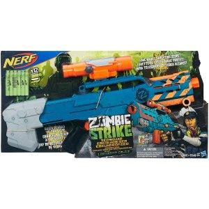 $14.97 Nerf Zombie Strike ZED Squad Longshot CS-12 Blaster