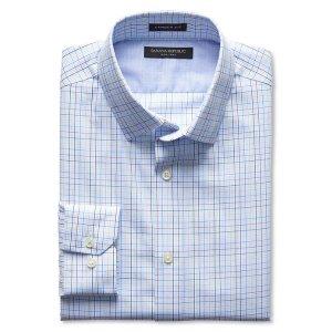 Camden-Fit Non-Iron Tri-Color Check Shirt