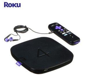 $55.00(原价$129)Roku 4 Wi-Fi 4K 流媒体播放器 翻新