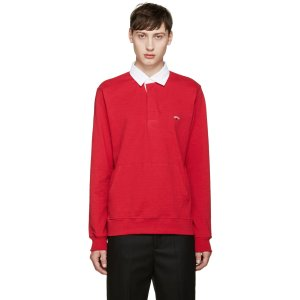 Noah: Red Rugby Polo