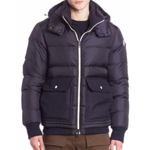 Moncler - Quilted Virgin Wool Blend Jacket - saks.com
