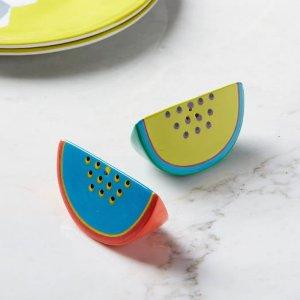 Melon Slice Salt + Pepper Shakers | west elm