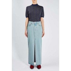 **Caius Denim Maxi Skirt By Unique - Sale - Sale & Offers - Topshop USA