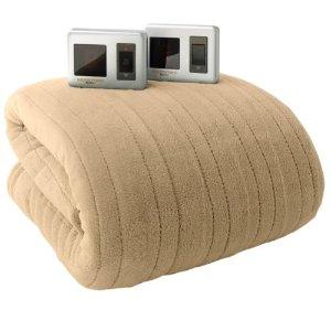 Biddeford Plush Heated Electric Blanket