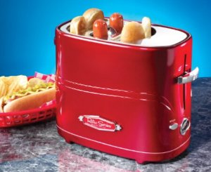 Nostalgia Electrics  Retro Series PopUp Hot Dog Toaster Red