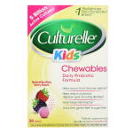 Culturelle Kids Chewables Probiotic, Natural Bursting Berry Flavor, 30 ct