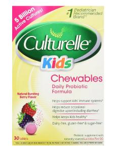 $15.89 Culturelle Kids Chewables Probiotic, Natural Bursting Berry Flavor, 30 ct