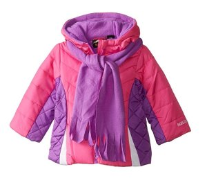 From$8.86 Pacific Trail Baby Girls' Color Blocked Quilted Puffer Jacket with Scarf