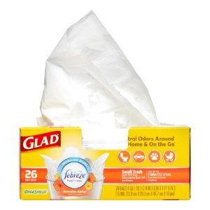 Glade Odor Sheild Febreze Freshness Small Plasic Trash Bags, Hawaiian Aloha, 26 Ct | Jet.com