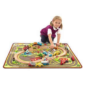 2016 Black Friday! $50.99+$15KC Melissa & Doug Deluxe Multi-Vehicle Activity Rug