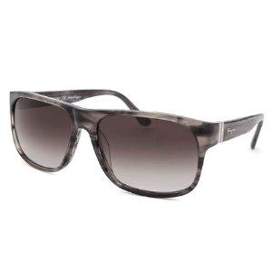 Salvatore Ferragamo Women's Square Striped Grey Sunglasses