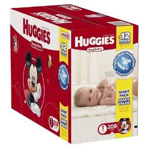 HUGGIES® Snug & Dry Diapers Giant Pack (Select Size) : Target