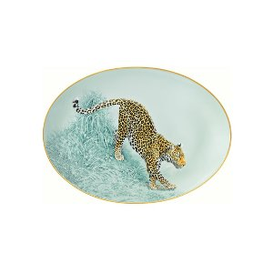 Hermes Carnets d'Equateur Small Oval Platter