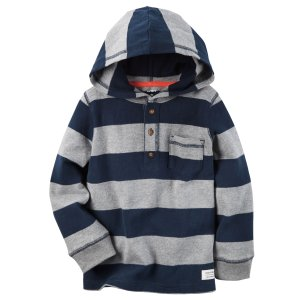 Baby Boy Long-Sleeve Hooded Tee | Carters.com