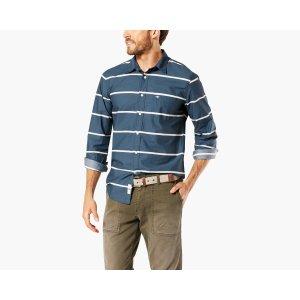 Premium The Laundered Shirt, Slim Fit | DARK BLUE PRINT | Dockers® United States (US)