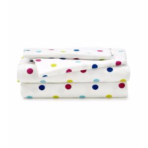LivingQuarters Heavy-Weight Polka Dots Flannel Sheet Set | Bon-Ton