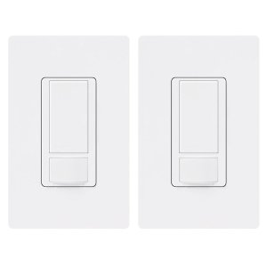 Lutron MS-OPS2H-2-WH Maestro 2 Amp Single Pole Occupancy Sensor Switch (2 Pack), White