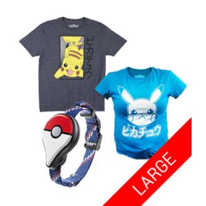 Pokemon Go Plus Large T-Shirt Bundle