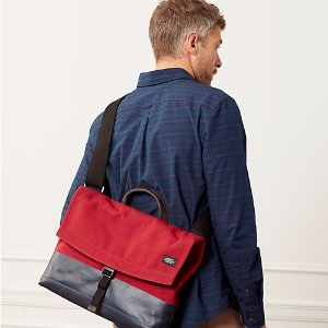 Dipped Industrial Canvas Dipped Folded Messenger - JackSpade