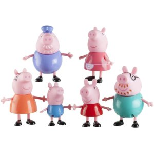 Peppa Pig Family Figures, 6-Pack - Walmart.com