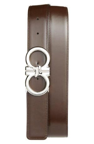 Salvatore Ferragamo 'Basics' Reversible Leather Belt @ Nordstom