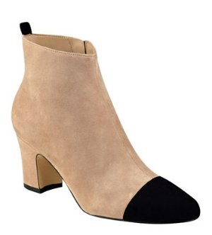 With Ivanka Trump Lundy Cap-Toe Suede Booties @ Lord & Taylor