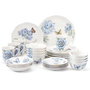 Butterfly Meadow™ Blue 28-pc. Dinnerware Se | Large Dinnerware Sets