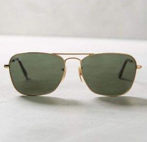 $79.99 Ray-Ban Caravan Gold-Tone Frame Sunglasses+ one free converse watch