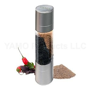 YAMO Salt and Pepper Grinder Set - 2 in 1 Salt and Pepper Mill Set