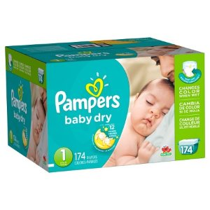 Pampers Baby Dry Diapers Giant Pack (Select Size) : Target