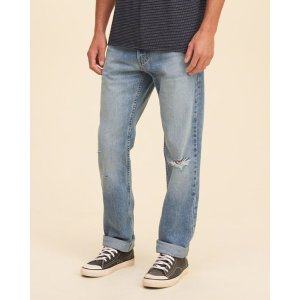 Guys Hollister Slim Straight Jeans | Guys Bottoms | HollisterCo.com