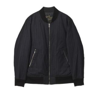 [customellow] stripe blouson jumper