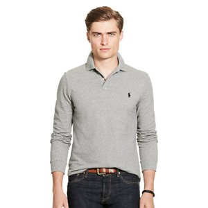 Classic-Fit Cotton Mesh Polo - Long Sleeve � Polo Shirts - RalphLauren.com