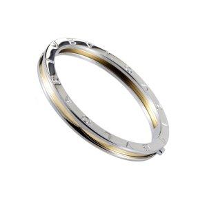 Bulgari B. Zero 1 18K Yellow Gold & Stainless Steel Bangle Bracelet| Buy at TrueFacet