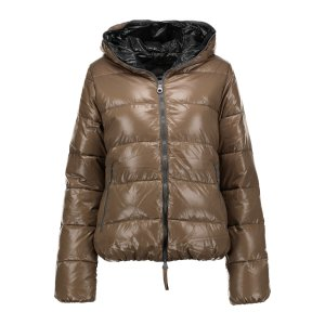 Thia quilted shell down hooded coat | Duvetica