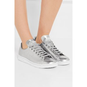 adidas Originals | + Raf Simons Stan Smith perforated metallic leather sneakers