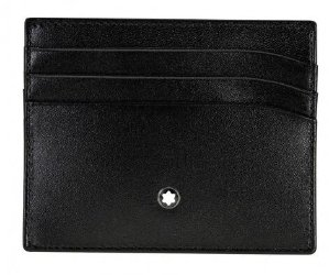 MONTBLANC Meisterstuck Selection Black Leather Pocket Credit Card Holder