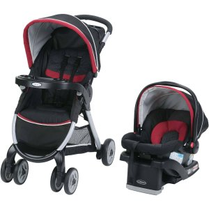 Graco FastAction Fold Click Connect Travel System, Weave - Walmart.com