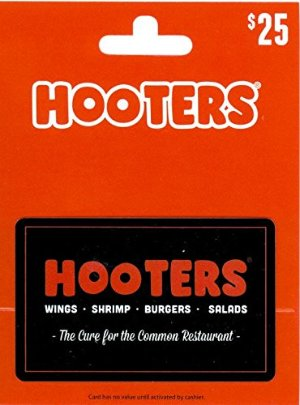 $25 Hooters Gift Card