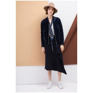 Hot Velvet Coat-Blue OU0709